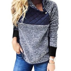 Sweaters - Button up fuzzy fur sweater